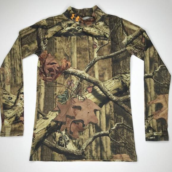 style mody szczegóły super promocje Under Armour ColdGear Hunting Camo Top A000461